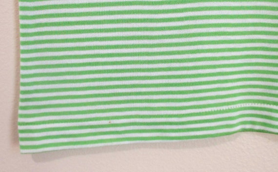 Vintage 1960s Green Striped Tshirt   NOS Never Wo… - image 6