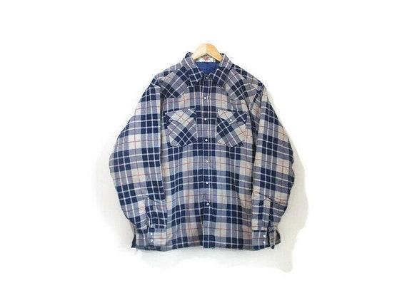 Vintage 1970s Deadstock Flannel Jacket | Quilted L