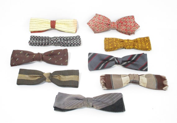Vintage 1940s Bow Ties   LOT of 9   1940s 50s Bow