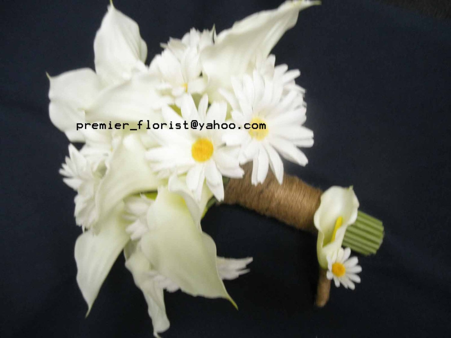 Rustic Daisy And Calla Lily Wedding Bouquet White Shasta Daisies