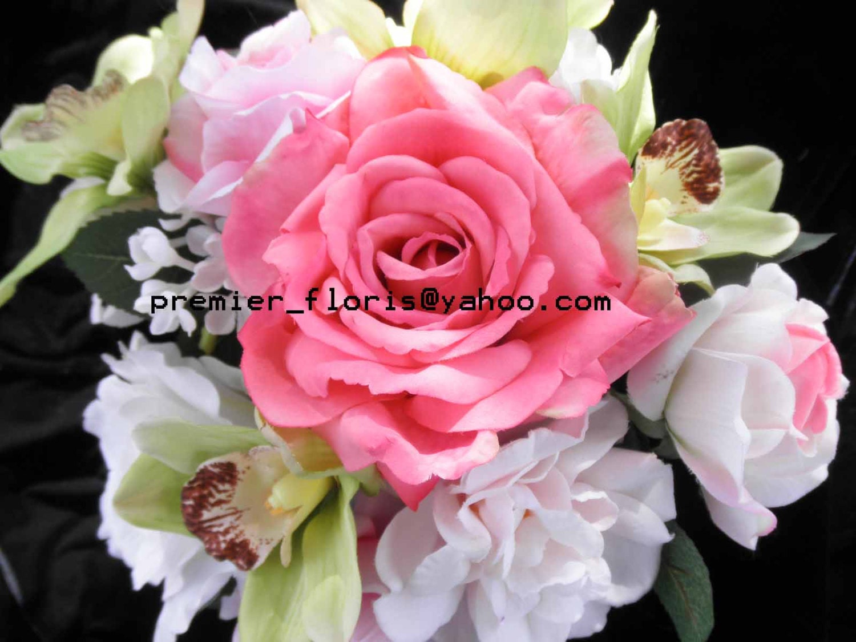 Designer Bridal Bouquet. Premium Quality Flowers.Coral Pink Peach ...