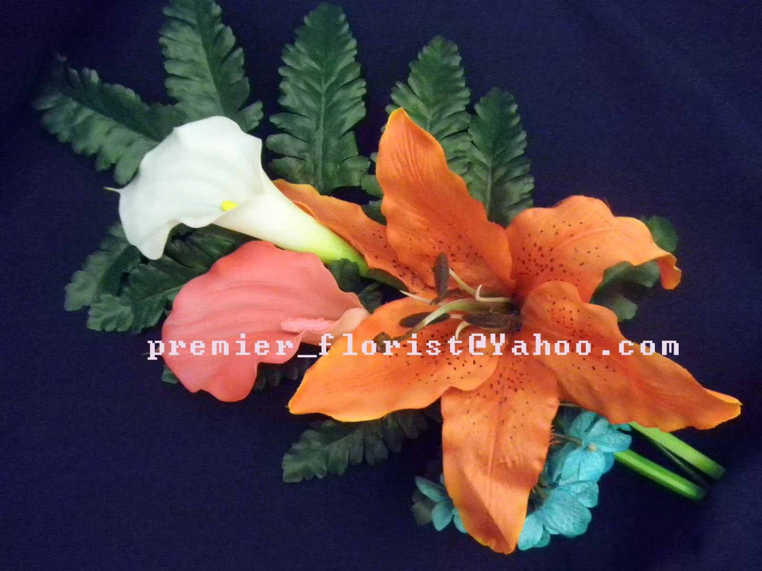 Stargazer Lily Arm Bouquet Real Touch Calla Lily Stargazer Lily