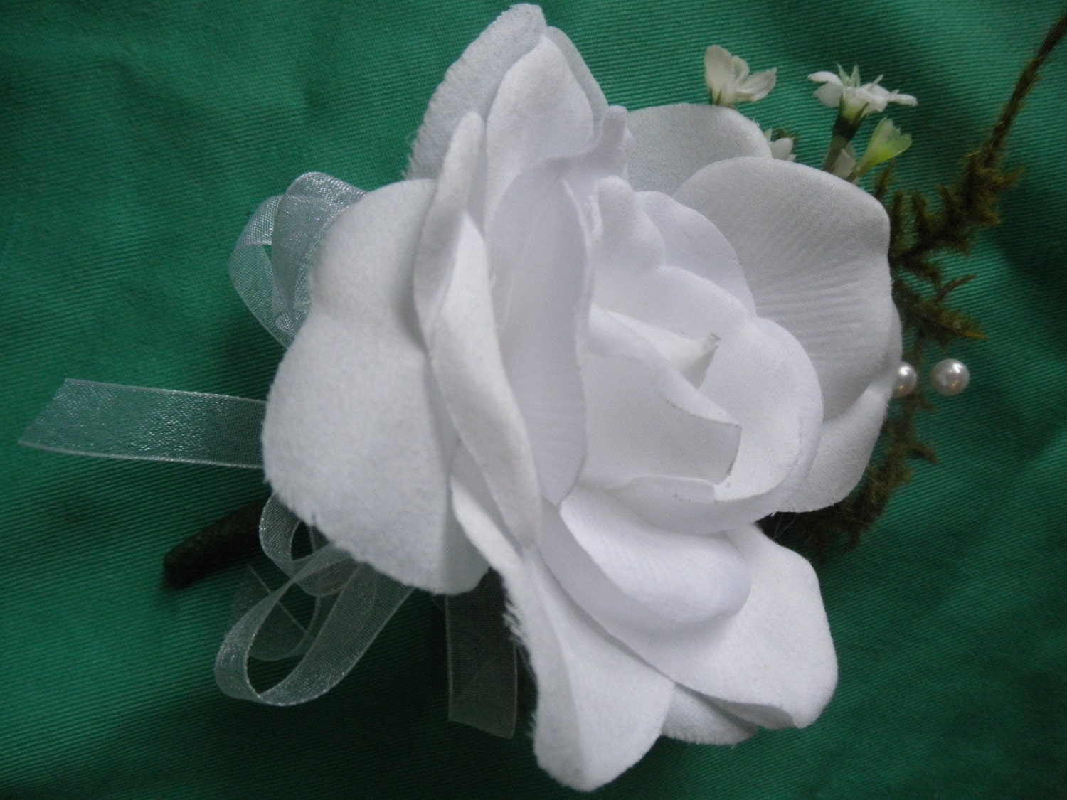 Prom Corsage Whie Gardenia Corsage And Man Boutonniere Soft Touch