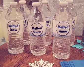48 Waterproof WATER WRAPS - Printed & Mailed - You choose theme - Printable Drink Labels - 4 dozen - Birthday, Shower, Wedding, etc