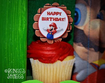SUPER MARIO Printable Birthday Collection - Customized for your Gaming Party - DIY Gamer Coordinating Video Game Design Accessories
