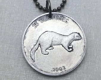 Ferrets Stainless Steel Charms BFS1100 I love ferrets