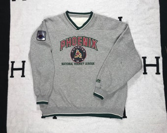 5027f4da8 Vintage 90 s Phoenix Coyotes Crewneck Sweatshirt XL LEE sport NHL hockey  Fully Embroidered