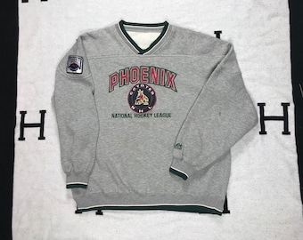 7a8187b93 Vintage 90 s Phoenix Coyotes Crewneck Sweatshirt XL LEE sport NHL hockey  Fully Embroidered