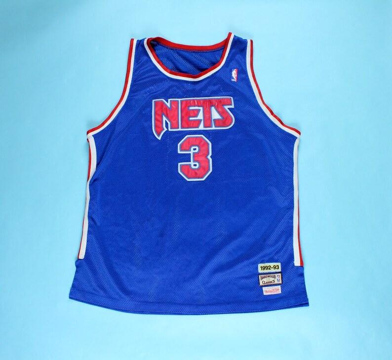 Vintage Drazen Petrovic New Jersey Nets Jersey 90 s  87bfaf619