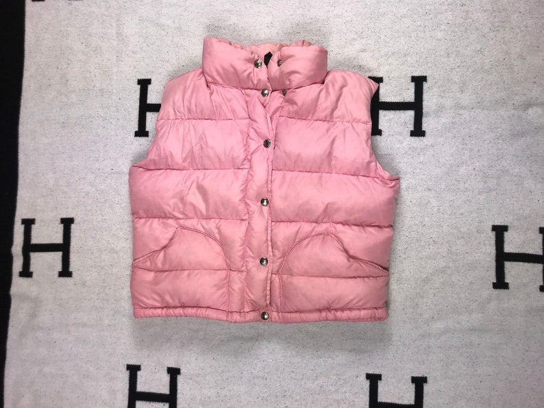 c5bf2552c Vintage 80's North Face Down Puffer Vest Small Brown Label Nuptse Style  Womens Pink Skiing