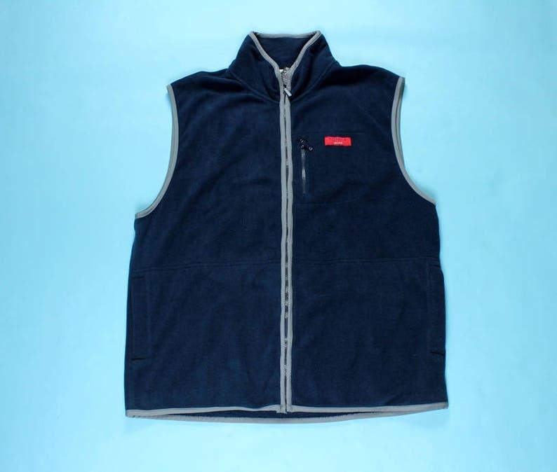 8e61b7e3 Vintage 90s TOMMY HILFIGER JEANS Fleece Vest X-Large Navy Blue   Etsy