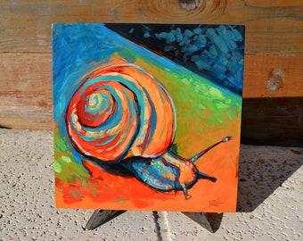 Original Snail Painting