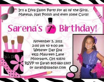Diva Invitation Etsy