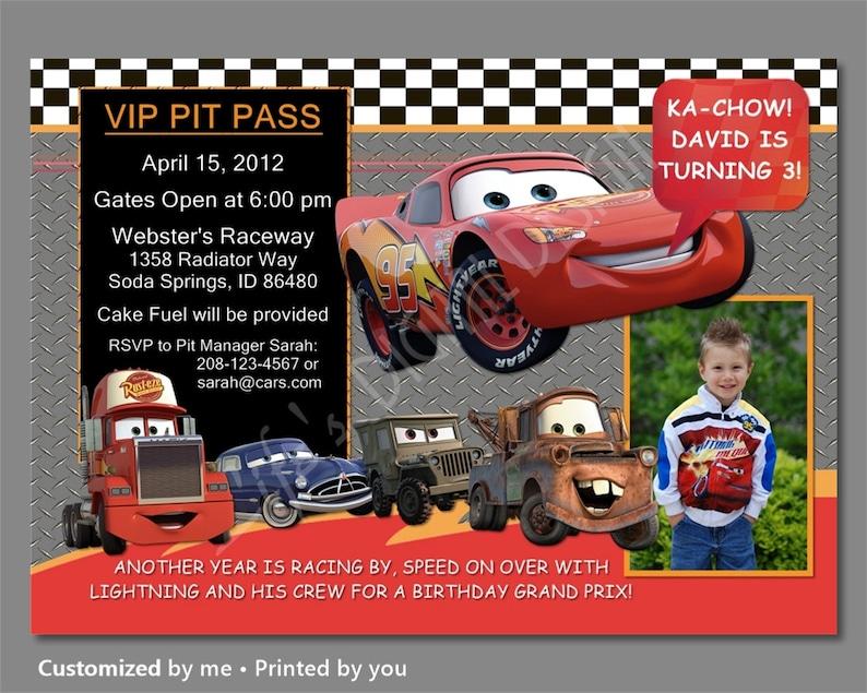 Cars Birthday Invitations Invitation Lightning McQueen