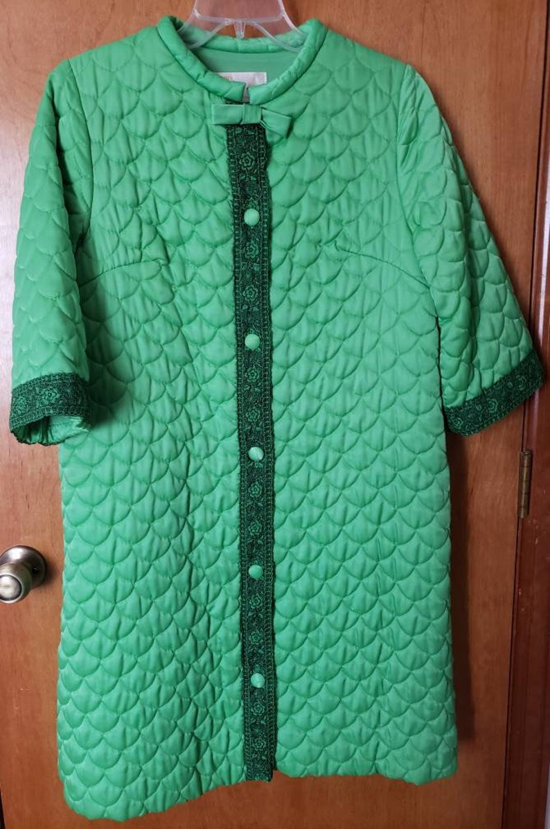 2cb4f25b999 1960 Midcentury Sears At Home Wear Lime Green Quilted Robe | Etsy