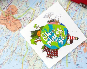 Oh the places you will go! Enjoy the journey, congratulations card