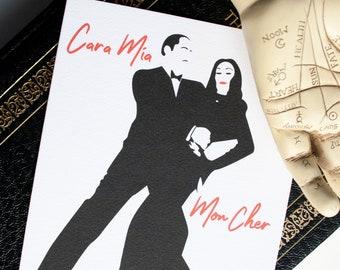 Gomez and Morticia valentine anniversary card