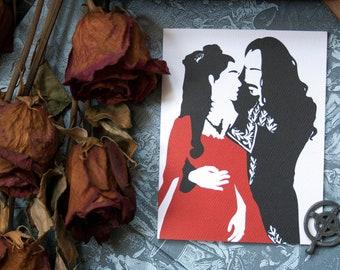 Bram Stoker's Dracula valentine anniversary card