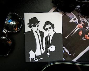 Blues Brothers valentine anniversary card