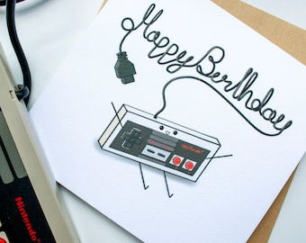Retro Gamer Birthday Card