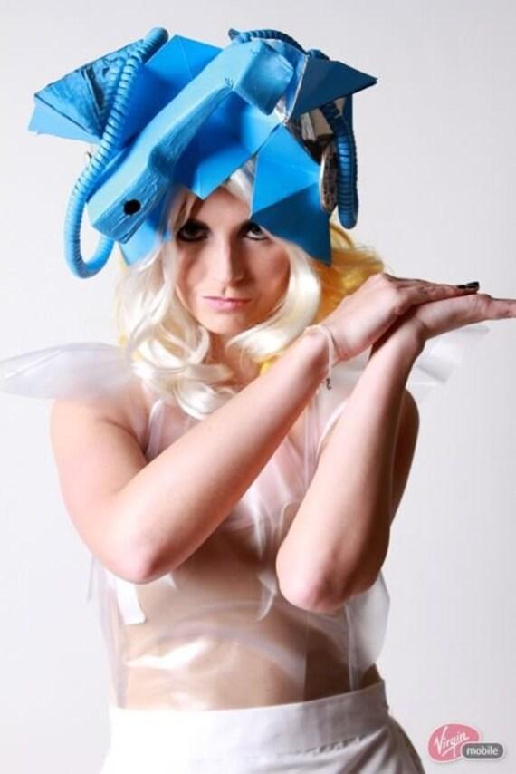 Items similar to Lady Gaga Blue Telephone Hat on Etsy