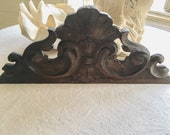 Antique Salvage Pediment, Carved Wood, Archectural and Beautiful