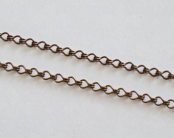 3.7mm by the Foot Antiqued Copper Plated Ladder Chain