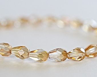 "22/"" Strand  7x5mm Electroplate Teardrop Shape Faceted AB Glass Beads-pls pick"