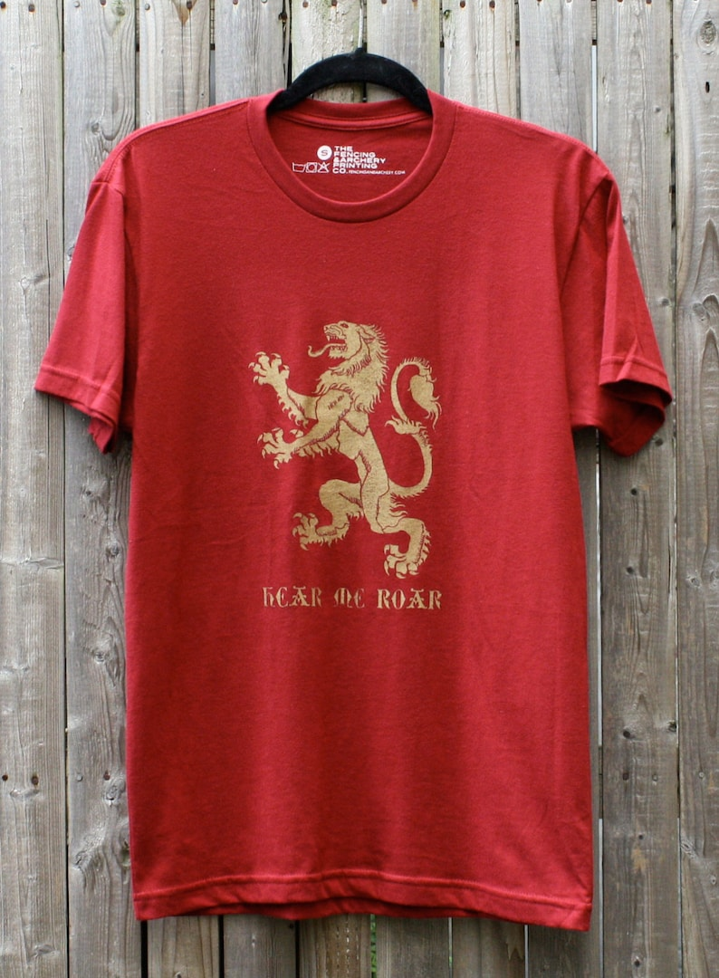 Lannister Lion // Hear Me Roar // Game of Thrones Shirt image 0