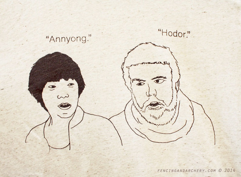 Annyong / Hodor / Hello Unisex Tee  Arrested Development / image 0