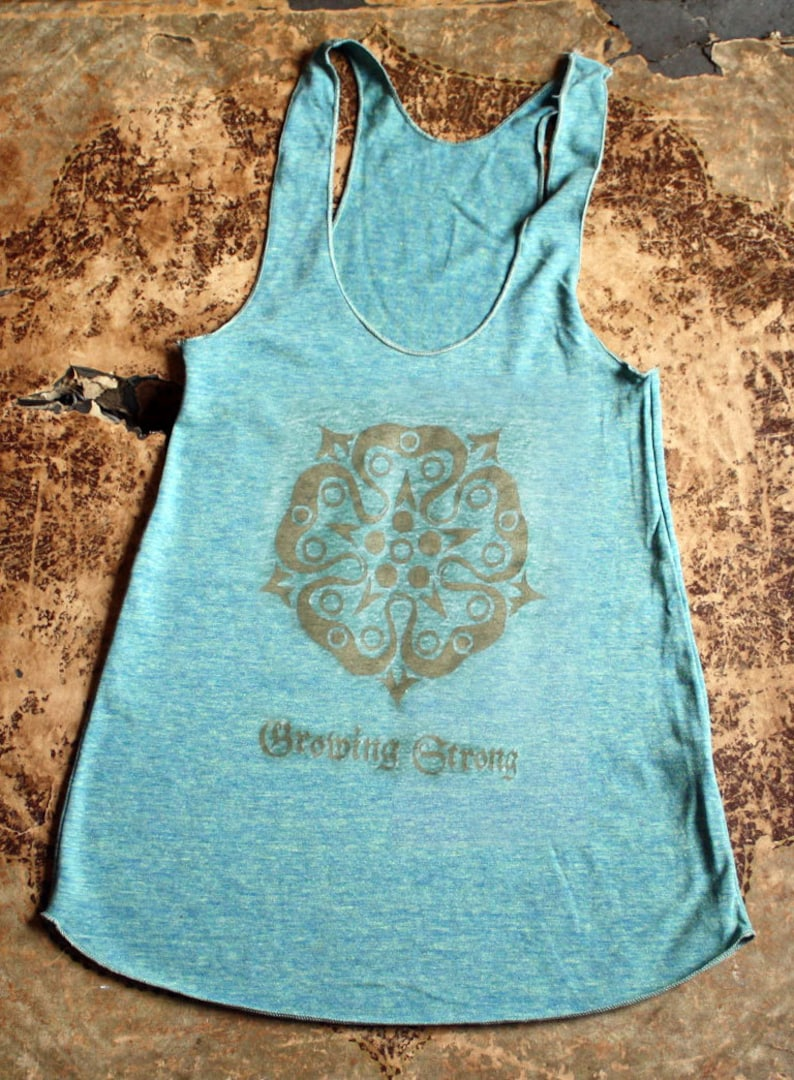 Game of Thrones // Tyrell Rose Racerback Tank // Growing image 0