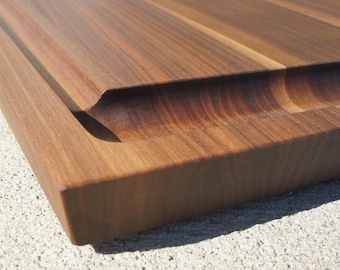 Unique gift, Wood, Cutting board, Walnut, Cherry or Maple - Extra Large Grooved