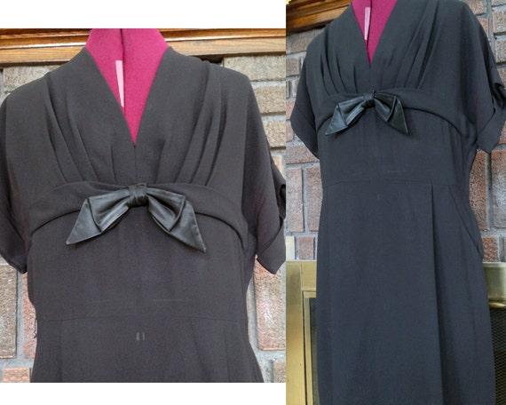 Plus Size 1950s Bow Tie Dress - 1950s Cocktail Dre