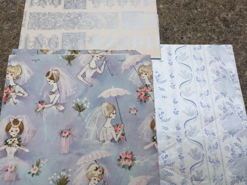 1950s Wedding Gift Paper  Vintage Wedding very Special  10 Packages Multiple Styles  1950s Wedding