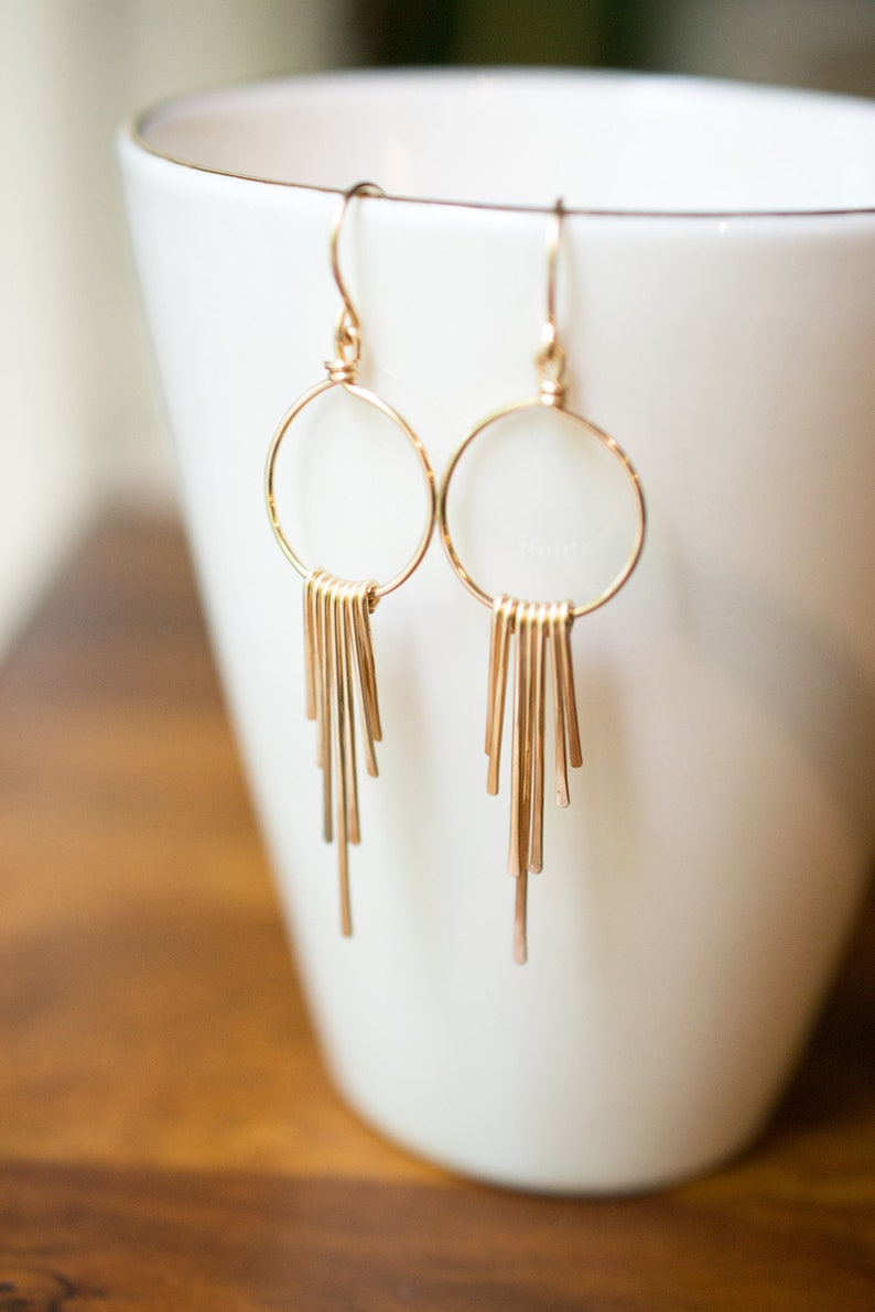 Chandelier Earrings Simple Gold Earrings Geometric image 0