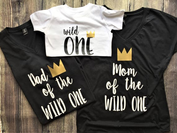f1c24975 Dad of the Wild One Shirt Mom of the Wild One shirt // where | Etsy