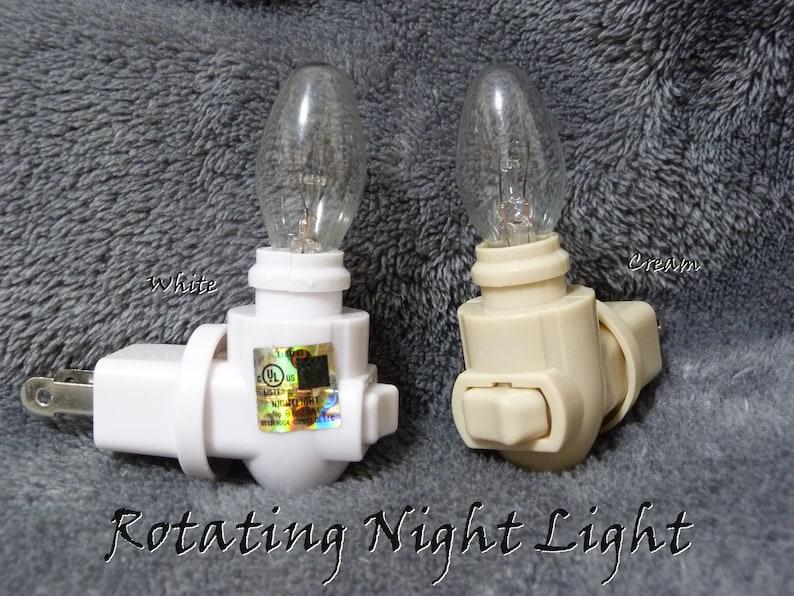 Bedroom Bathroom Kitchen Decor Yellow Mushroom Stained Glass Night Light Wall Plug In Light Sensor Swivel Rotating Gift For A Friend