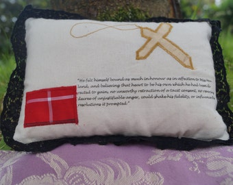 STOCK CLEARANCE! Northanger Abbey Quote Jane Austen Mini Cushion Pillow Catherine Morland