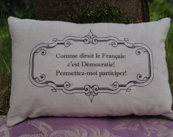 STOCK CLEARANCE! French Womens Suffrage Inspired Miniature Pillow