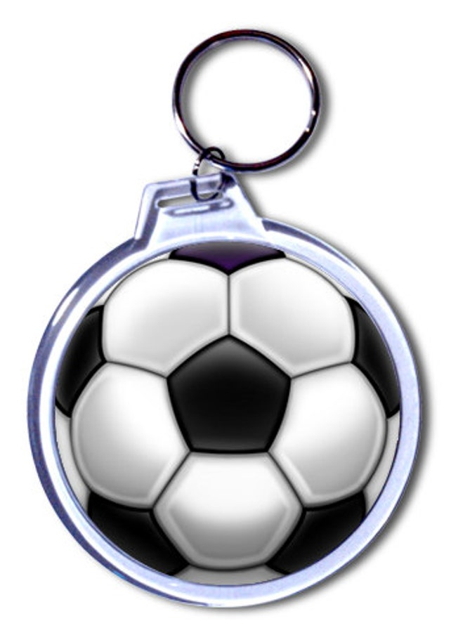 Personalized Soccer Ball Keychain 2 Size Choices Etsy