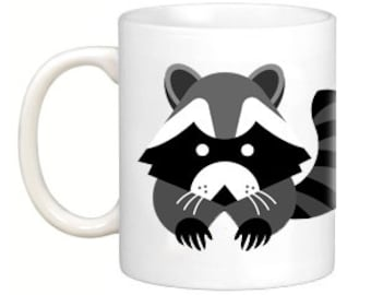 Cute Raccoon Art Coffee Mug