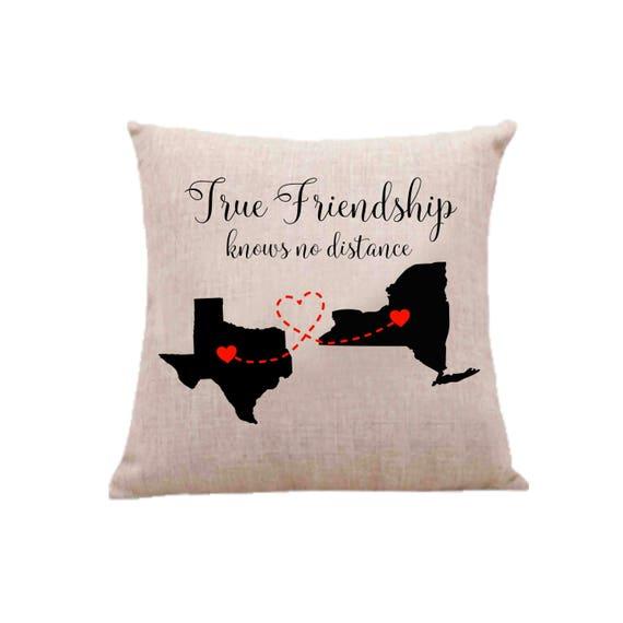 Les meilleurs amis des longue Distance oreiller cas, taie d'oreiller BFF, meilleur ami cadeau, état personnalisé pour la taie d'oreiller, meilleur ami