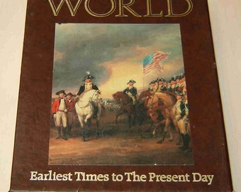 Sale 30% Off - Vintage HISTORY of the WORLD -Three (3) Book Box Set-Earliest Times to Present Day- Edited by John Whitney Hall -  1988