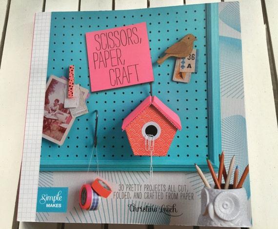 Book Title Scissors Paper Craft By Christine Leech Soft Etsy