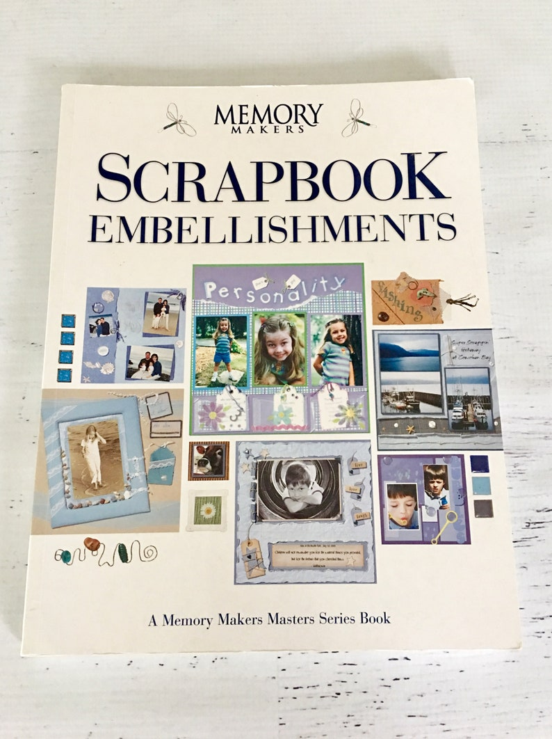 papercrafting cardmaking 128 pg idea book Book gently used Scrapbooking Embellishments by Memory Makers good condition Soft Cover