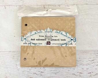 Prima Embossed Chipboard Book, chipboard mini album, scrapbooking, mixed media, mini albums, art journaling, painting, stamping, photo album