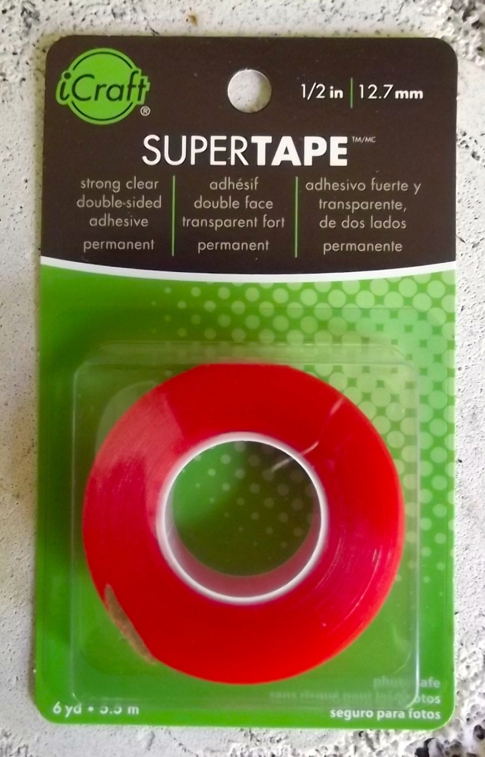 Supertape Double Sided Acid Free Clear Tape By Therm O Web