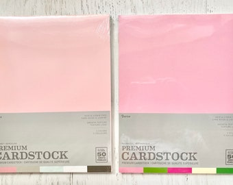 Darice 65 lb Card card stock, 8.5X 11 sheets, 50 shts, 5 colors-10 shts of ea, Lullaby or Botanical, paper crafting, card making, stamping