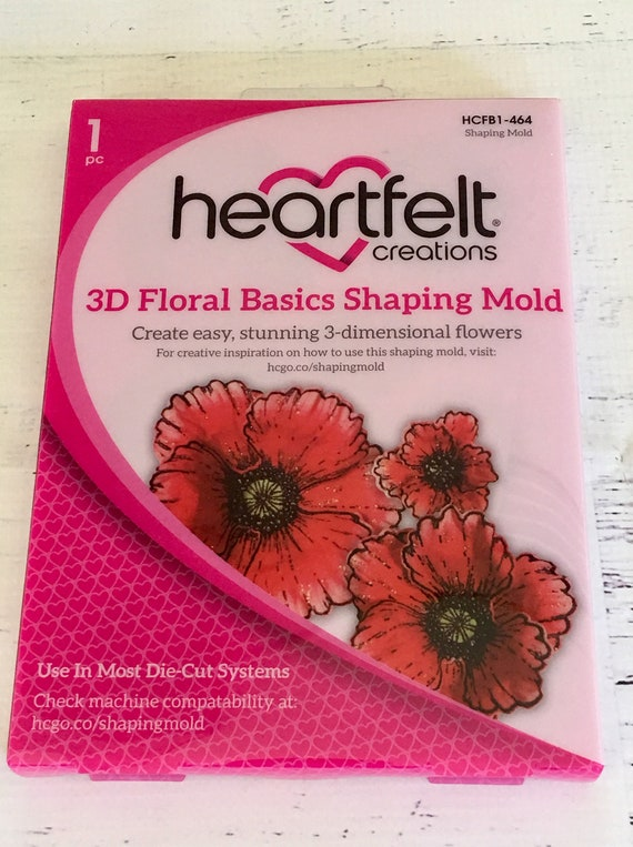 Hcfb1 464 Heartfelt Creations 3d Floral Basics Shaping Mold Mold Rose