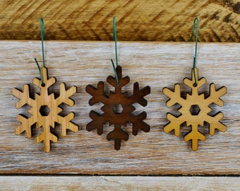 Wood Snowflake Ornament - Snowflake - Christmas Ornament - Laser Cut - Christmas Decor -Wooden Ornament